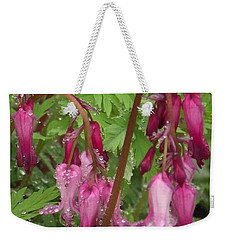 Garden Rain Drops Weekender Tote Bag