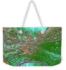 Weekender Tote Bag featuring the digital art Garden Wall by George Pedro