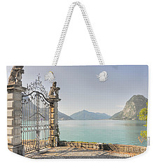 Gate On The Lake Front Weekender Tote Bag