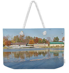 Weekender Tote Bag featuring the photograph Genesee River Panorama by William Norton