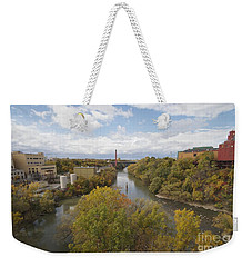 Weekender Tote Bag featuring the photograph Genesee River by William Norton