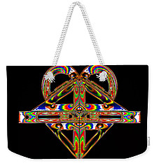 Weekender Tote Bag featuring the photograph Geometry Mask by Steve Purnell