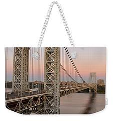 George Washington Bridge At Sunset Weekender Tote Bag by Zawhaus Photography