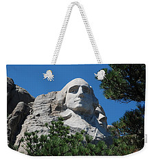 Weekender Tote Bag featuring the photograph George Washington Face  by Dany Lison
