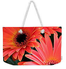 Weekender Tote Bag featuring the photograph Gerbera Bliss by Rory Sagner