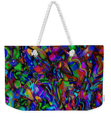 Weekender Tote Bag featuring the mixed media Get Busy by Kevin Caudill