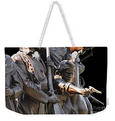 Weekender Tote Bag featuring the photograph Gettysburg Monument by Cindy Manero