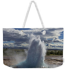 Weekender Tote Bag featuring the photograph Geysir 2 by David Gleeson