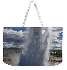 Weekender Tote Bag featuring the photograph Geysir 3 by David Gleeson