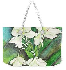 Ginger Lilies Weekender Tote Bag by Carla Parris