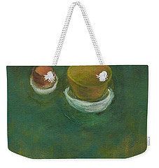 Weekender Tote Bag featuring the painting Ginger Pot by Kathleen Grace