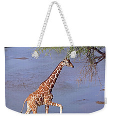 Giraffe Crossing Stream Weekender Tote Bag