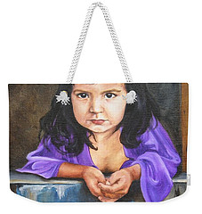 Weekender Tote Bag featuring the painting Girl From San Luis by Lori Brackett