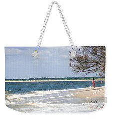 Girl On The Beach Weekender Tote Bag
