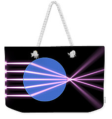 Weekender Tote Bag featuring the digital art Glass Ball 2 by Russell Kightley