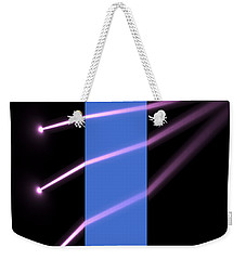Weekender Tote Bag featuring the digital art Glass Block 2 by Russell Kightley