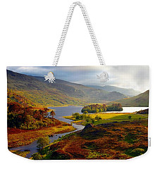 Weekender Tote Bag featuring the photograph Glen Strathfarrar by Gavin Macrae