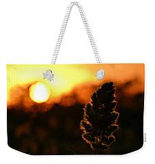 Glowing Leaf Weekender Tote Bag by Zawhaus Photography