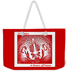 Weekender Tote Bag featuring the photograph Go Go Badgers by Zafer Gurel