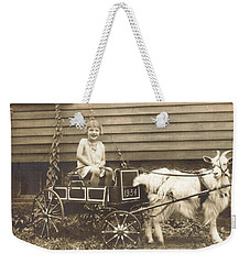 Weekender Tote Bag featuring the photograph Goat Wagon by Bonfire Photography