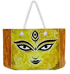 Weekender Tote Bag featuring the painting Goddess Kali by Sonali Gangane