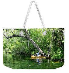 Golden Canoe Launch Weekender Tote Bag