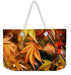 Weekender Tote Bag featuring the photograph Golden Fall. by Clare Bambers