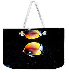 Golden Fish Reflection Weekender Tote Bag