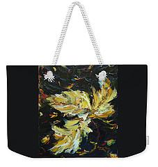 Weekender Tote Bag featuring the painting Golden Flight by Judith Rhue