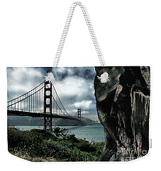 Weekender Tote Bag featuring the photograph Golden Gate Bridge - 4 by Mark Madere