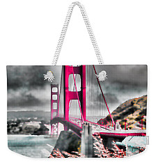 Weekender Tote Bag featuring the photograph Golden Gate Bridge - 5 by Mark Madere