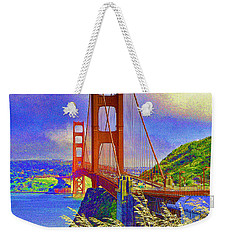 Weekender Tote Bag featuring the photograph Golden Gate Bridge - 6 by Mark Madere