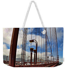 Weekender Tote Bag featuring the photograph Golden Gate Bridge - 7 by Mark Madere