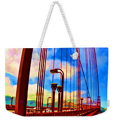 Weekender Tote Bag featuring the photograph Golden Gate Bridge - 8 by Mark Madere