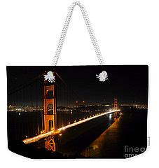 Weekender Tote Bag featuring the photograph Golden Gate Bridge 2 by Vivian Christopher