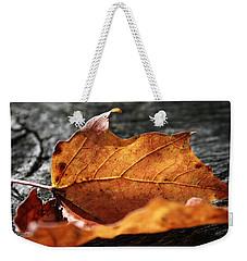 Golden Leaf Weekender Tote Bag