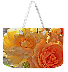 Weekender Tote Bag featuring the photograph Golden Light by Debbie Portwood
