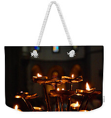 Weekender Tote Bag featuring the photograph Golden Lights by Dany Lison