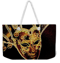 Golden Mask Weekender Tote Bag
