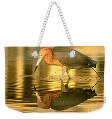 Golden Reflection Weekender Tote Bag by Myrna Bradshaw