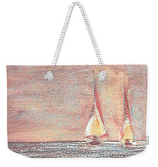 Golden Sails Weekender Tote Bag