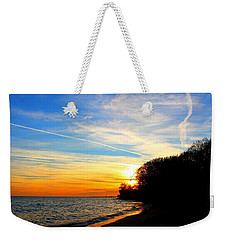 Golden Sunset Weekender Tote Bag by Davandra Cribbie
