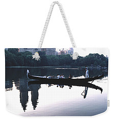 Gondola On The Central Park Lake Weekender Tote Bag