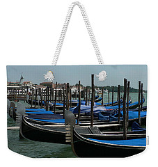 Weekender Tote Bag featuring the photograph Gondolas by Laurel Best