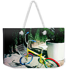 Weekender Tote Bag featuring the photograph Google Mini Bike by Nina Prommer