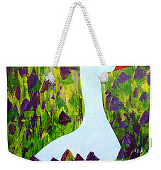 Weekender Tote Bag featuring the painting Goose by Barbara Moignard