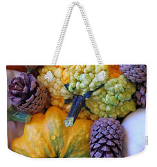 Weekender Tote Bag featuring the photograph Gourds 4 by Deniece Platt