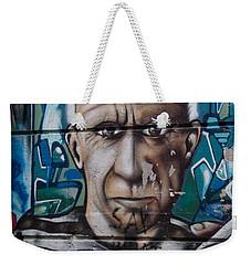 Weekender Tote Bag featuring the digital art Graffii Alley by Carol Ailles