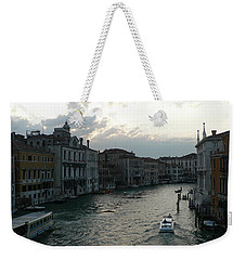 Weekender Tote Bag featuring the photograph Grand Canal At Dusk by Laurel Best