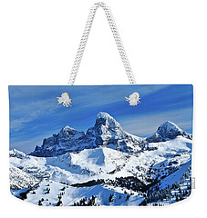 Grand Teton Winter Weekender Tote Bag